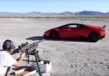 Блогер расстрелял арбузы сквозь Lamborghini