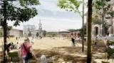 На Контрактовой площади установят металлические столбики с подсветкой